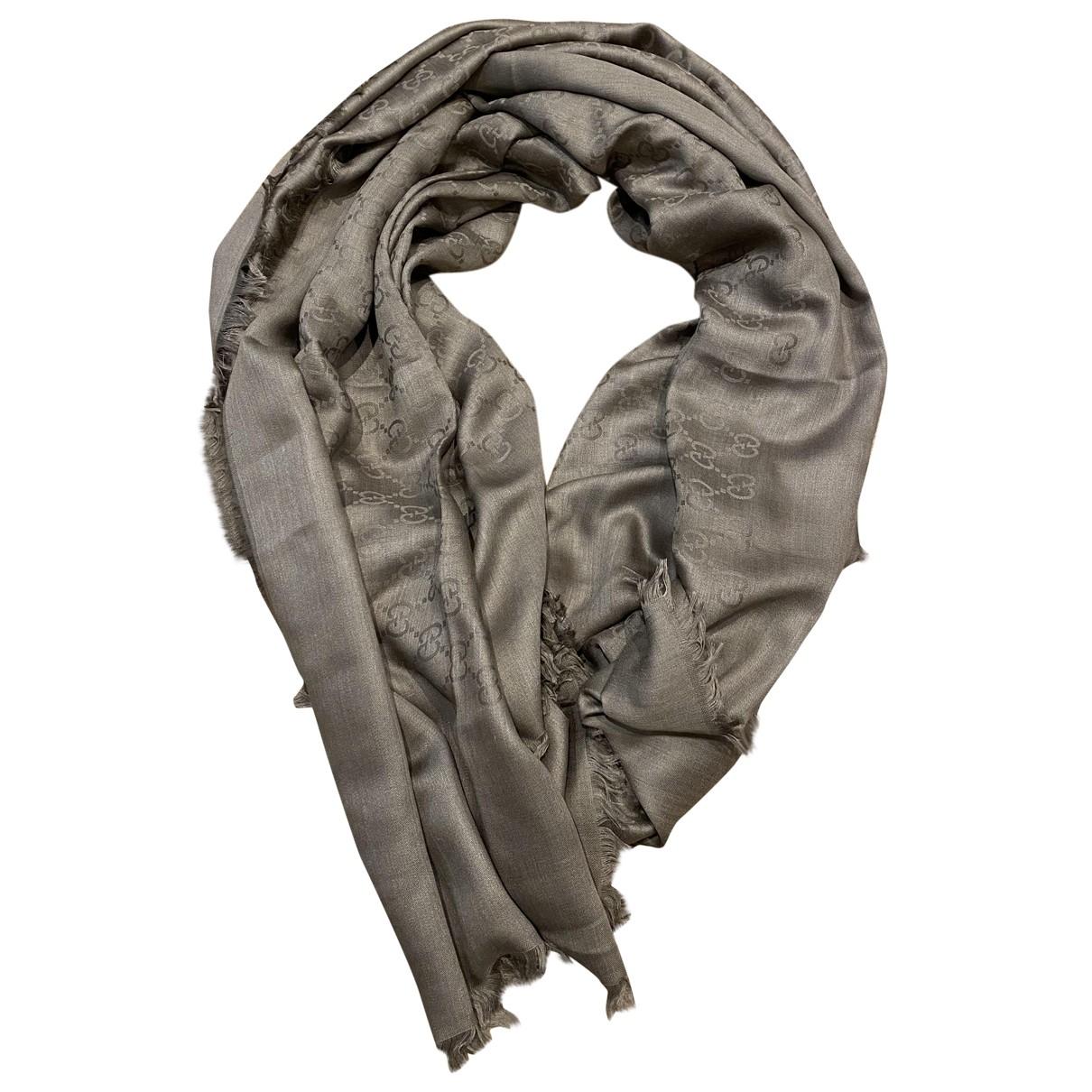 Gucci \N Grey Silk scarf for Women \N