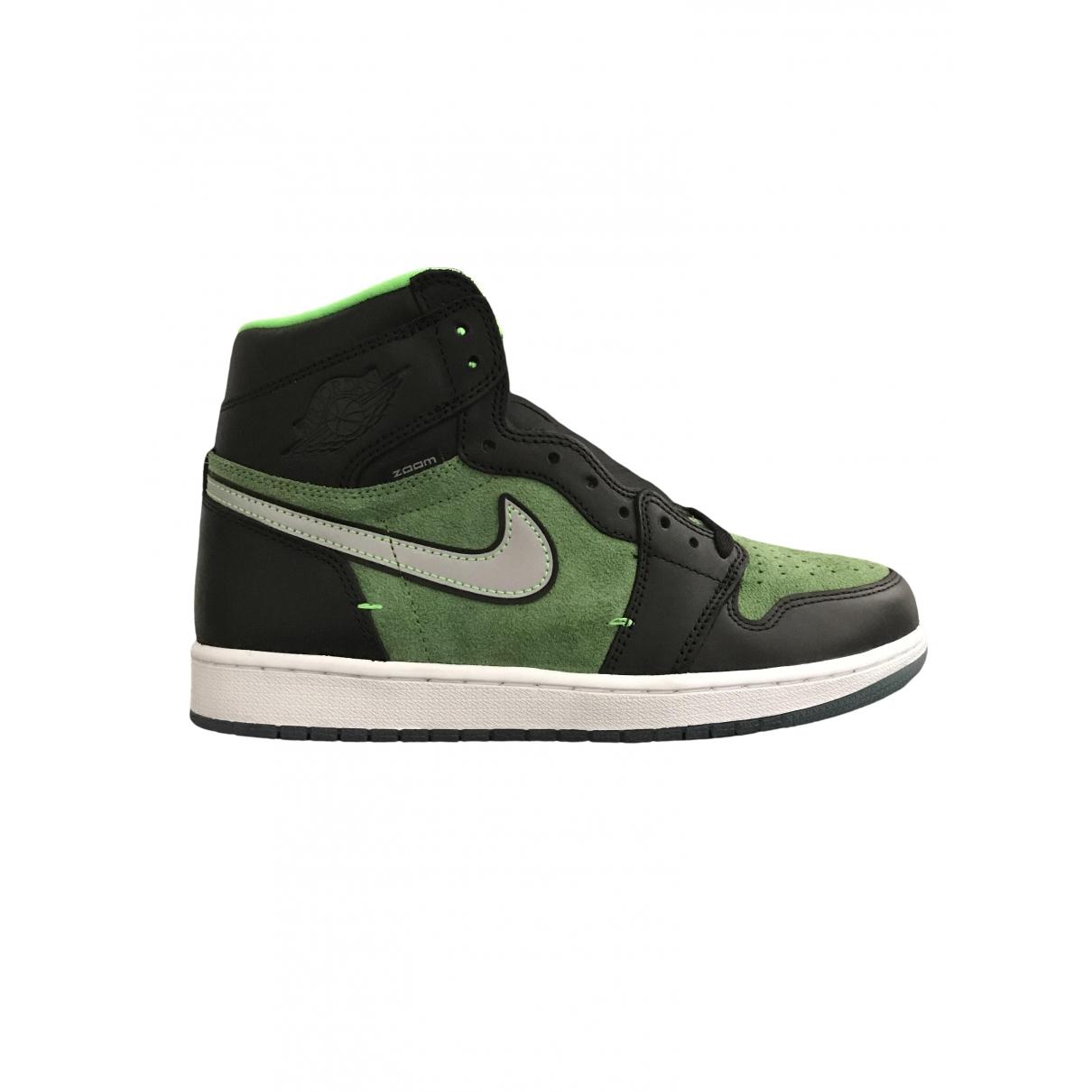 Jordan - Baskets Air Jordan 1  pour homme en suede - vert