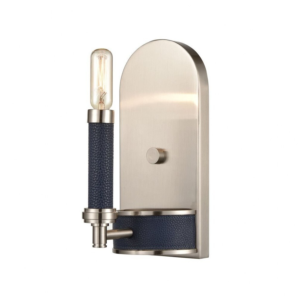 Peter Dale - 1 Light Wall Sconce  Satin Nickel/Navy Blue/Navy Blue Finish (Satin Nickel/Navy Blue/Navy Blue)