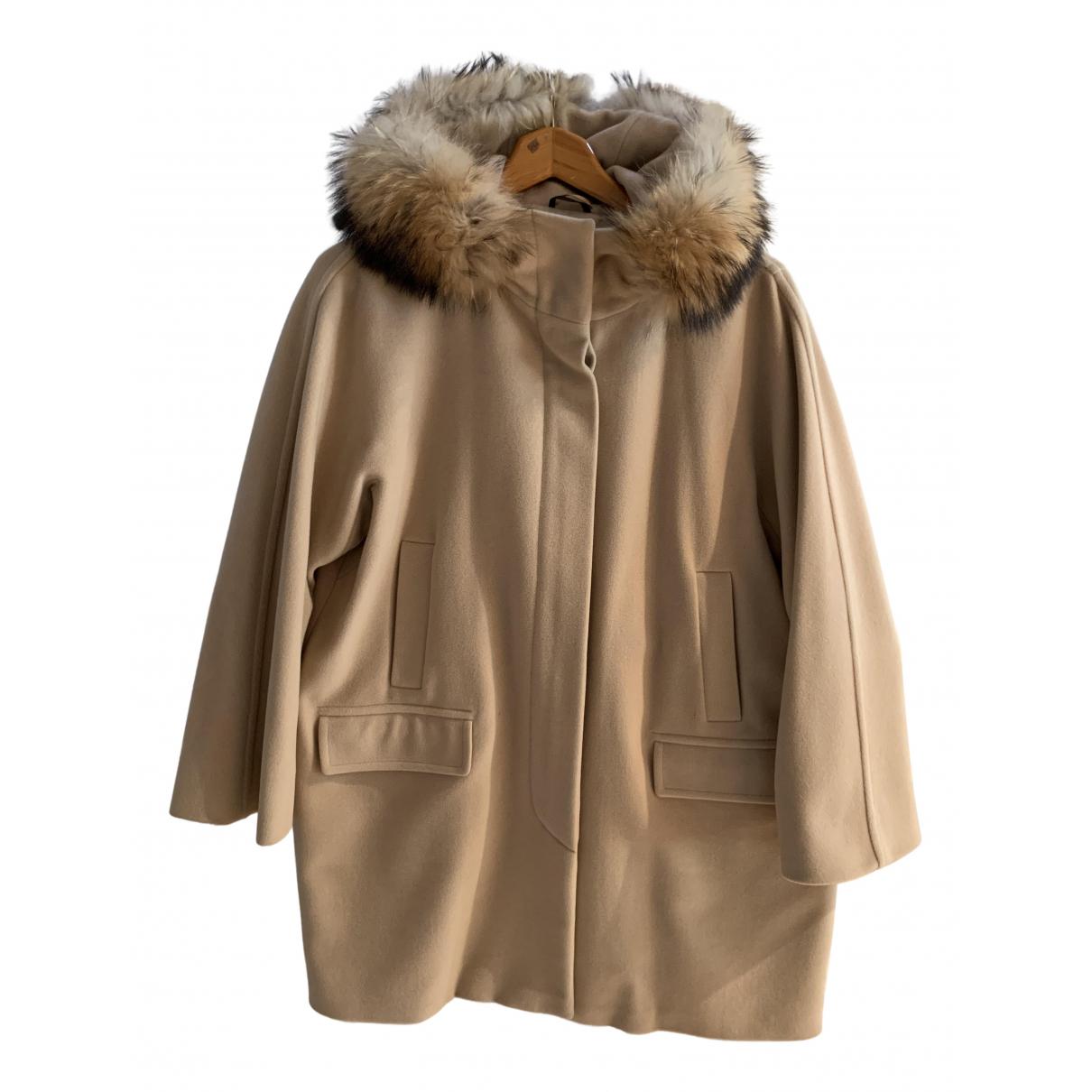 Max Mara Weekend - Manteau   pour femme en laine - beige