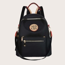 Letter Patch Backpack