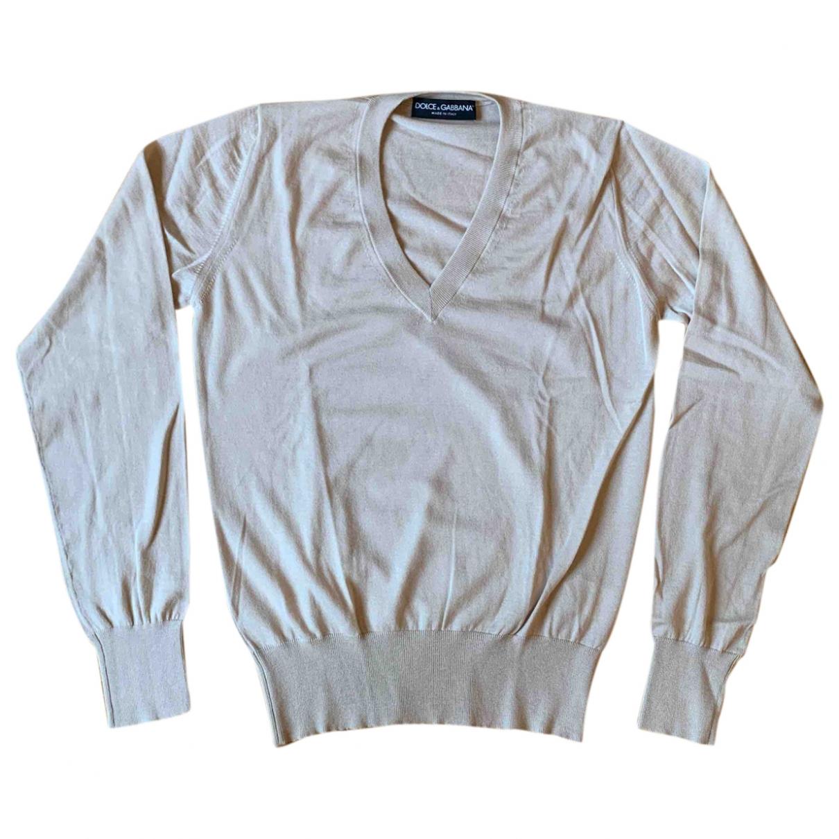 Dolce & Gabbana \N Pullover.Westen.Sweatshirts  in  Beige Kaschmir