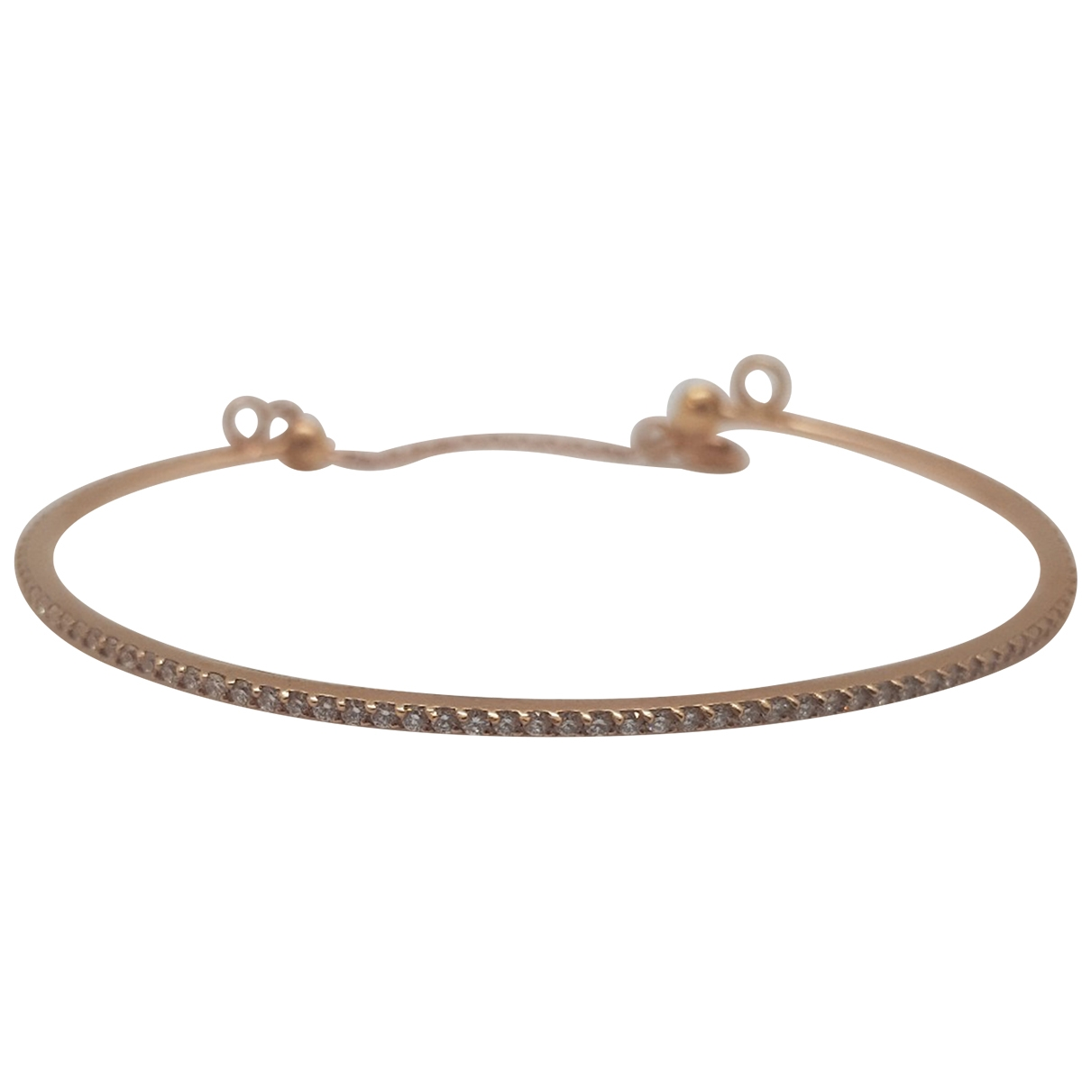 Non Signé / Unsigned Jonc Red Pink gold bracelet for Women \N
