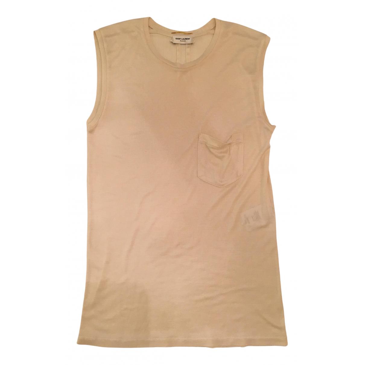Camiseta sin mangas de Seda Saint Laurent