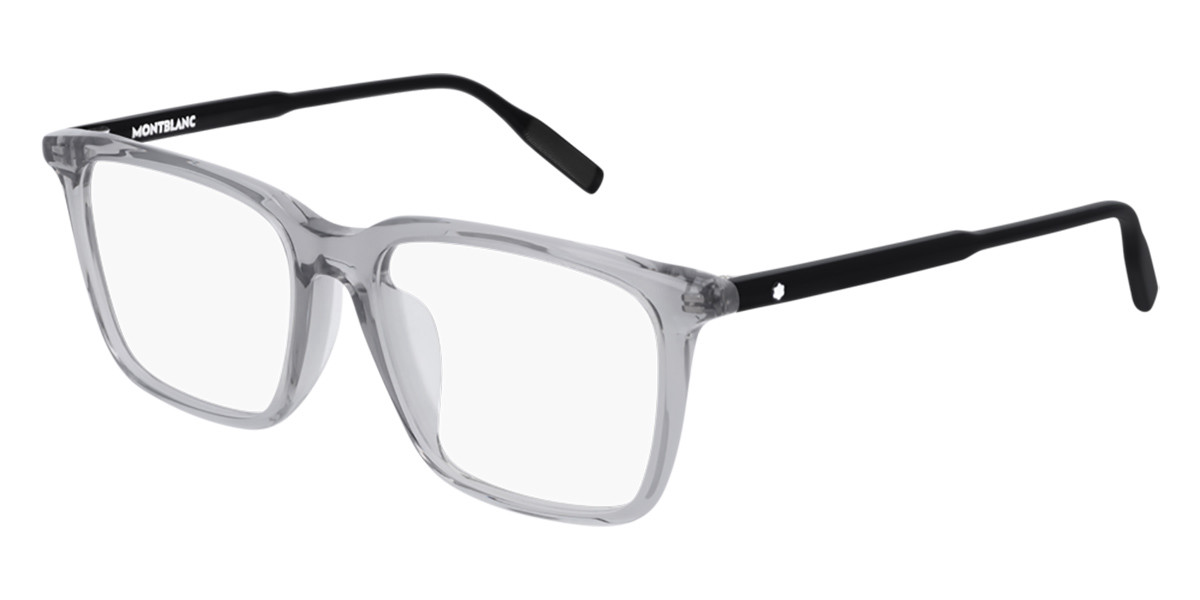 Mont Blanc MB0011OA Asian Fit 005 Men's Glasses Grey Size 54 - Free Lenses - HSA/FSA Insurance - Blue Light Block Available