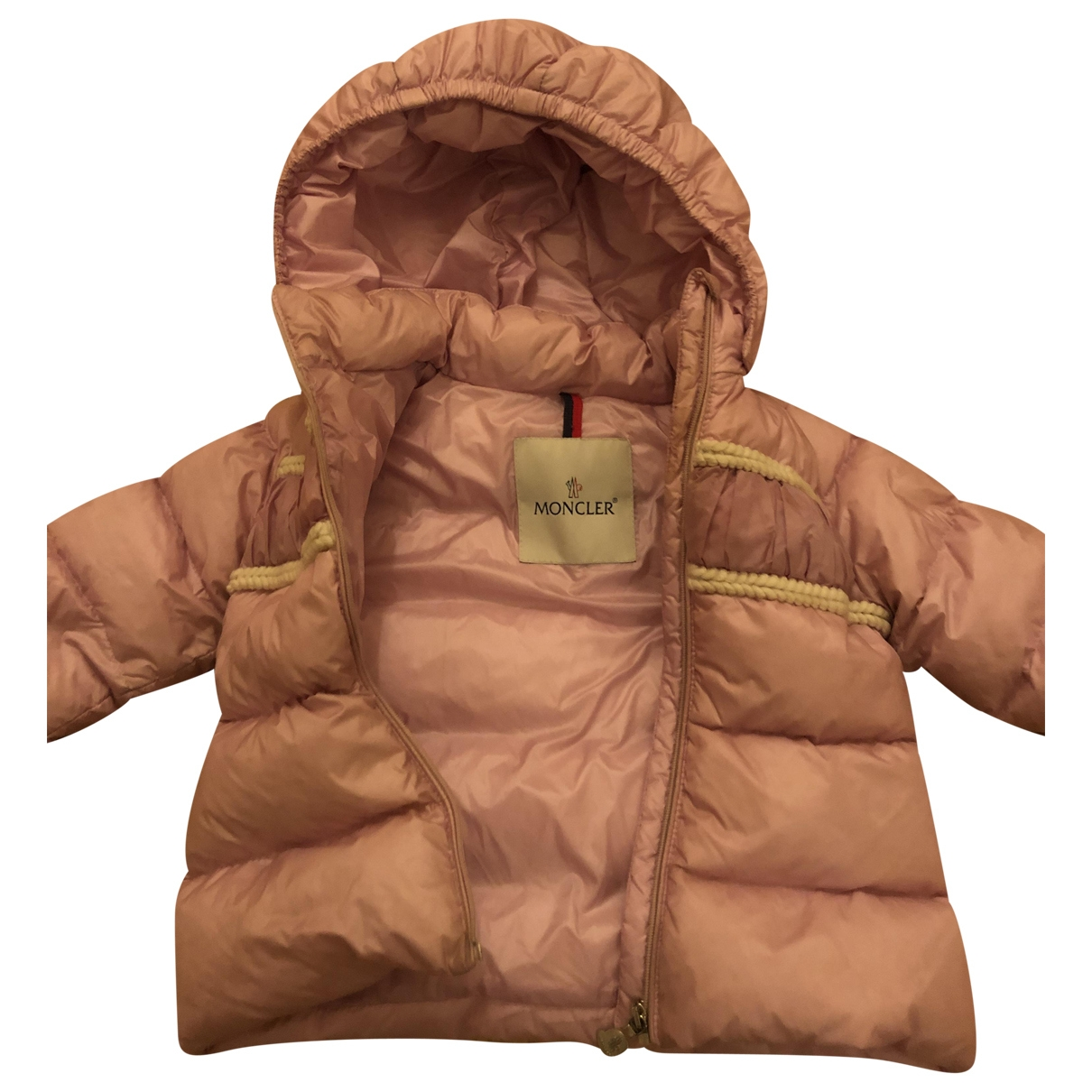 Moncler Classic Pink Cotton jacket & coat for Kids 18 months - up to 81cm FR