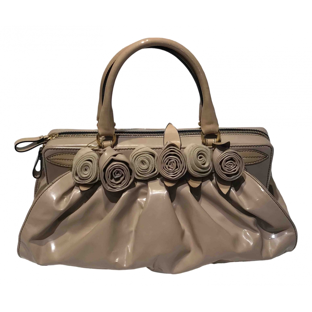 Valentino Garavani \N Beige Patent leather handbag for Women \N