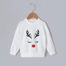 Sweatshirt mit Weihnachten Muster