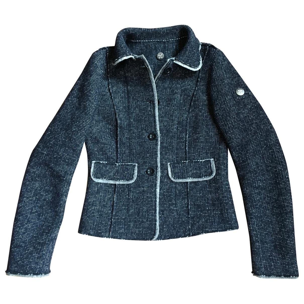 Swiss Chriss - Veste   pour femme en laine - bleu