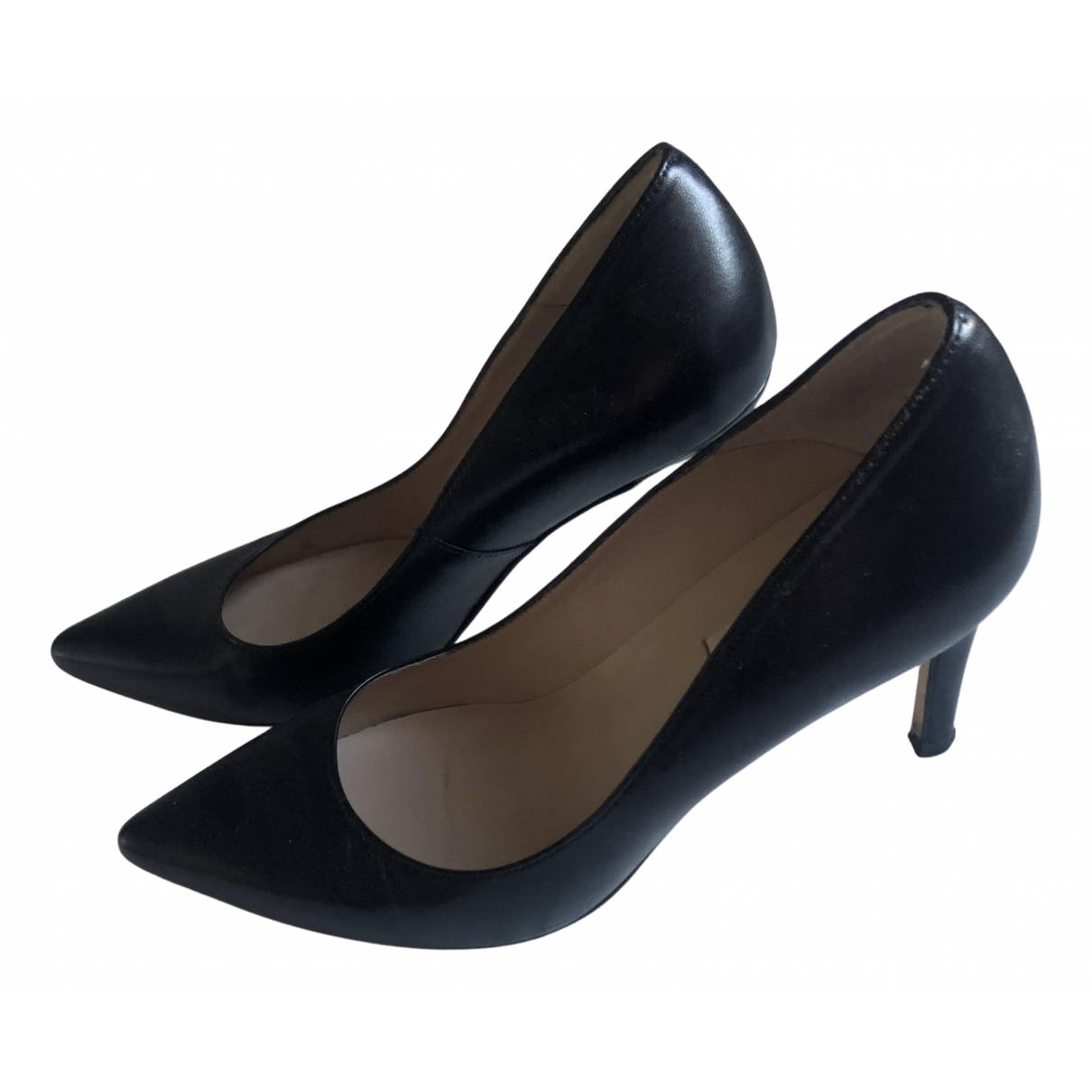 Lk Bennett N Black Leather Heels for Women 36.5 EU
