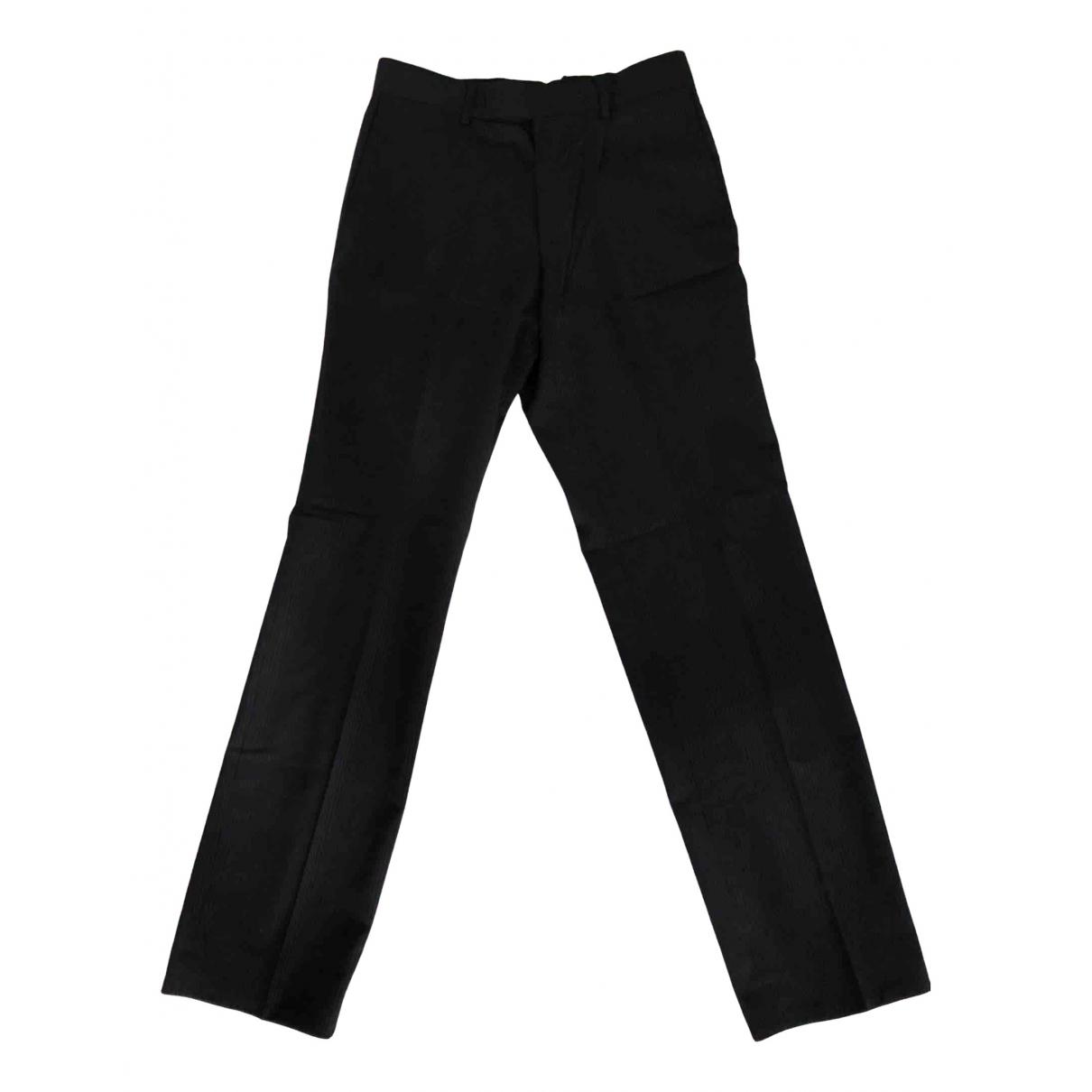 Hugo Boss N Black Wool Trousers for Men 44 IT