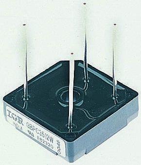 Taiwan Semiconductor GBPC1506W T0, Bridge Rectifier, 15A 600V, 4-Pin GBPC-W (2)