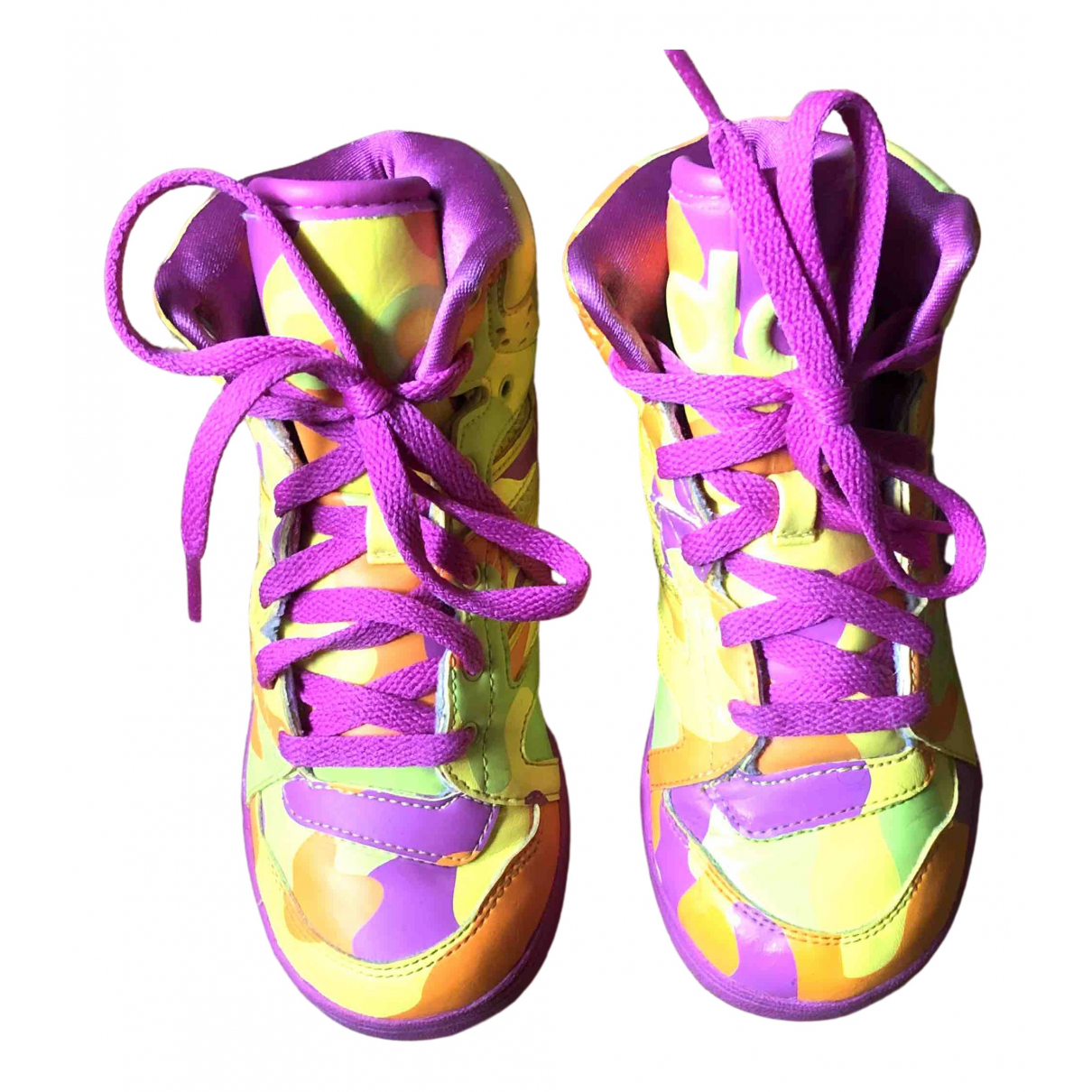 Adidas - Baskets   pour enfant en cuir - multicolore