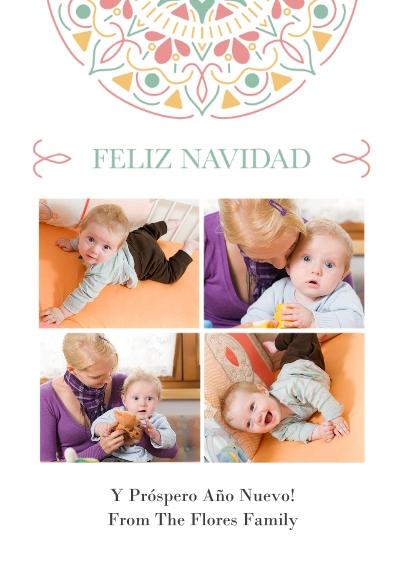 Tarjetas de Navidad Flat Glossy Photo Paper Cards with Envelopes, 5x7, Card & Stationery -Mi Navidad