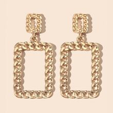 Chain Design Drop Earrings