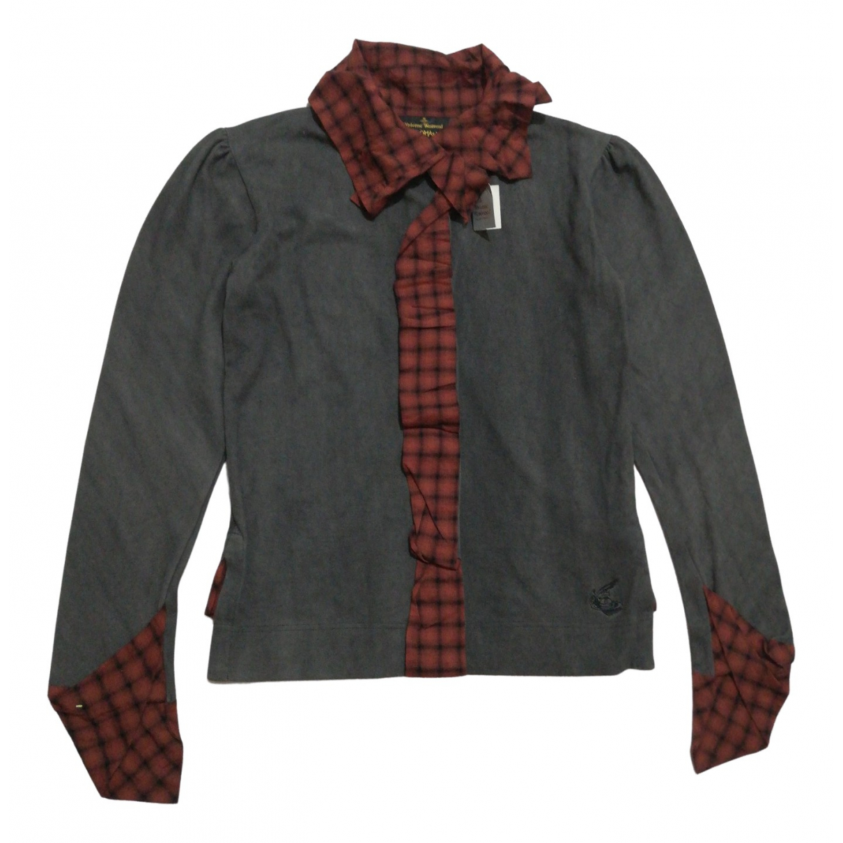 Vivienne Westwood Anglomania - Top   pour femme en coton - gris