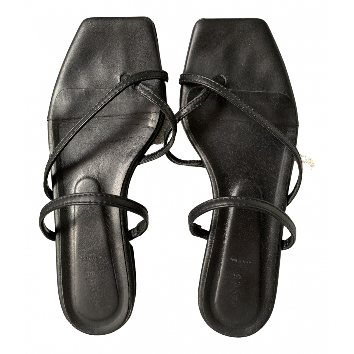 Aeyde \N Sandalen in  Schwarz Leder