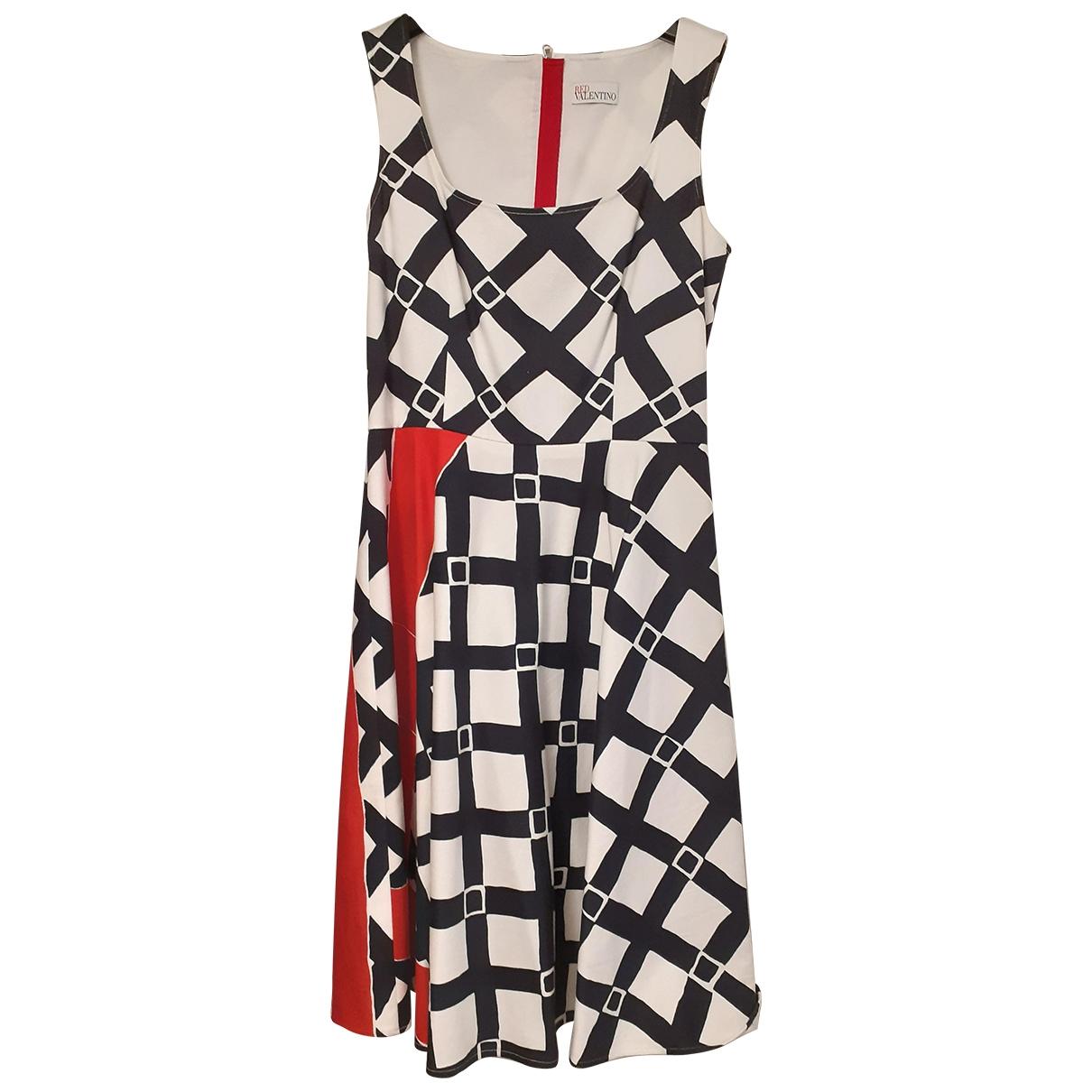 Red Valentino Garavani \N Multicolour Cotton dress for Women 42 IT