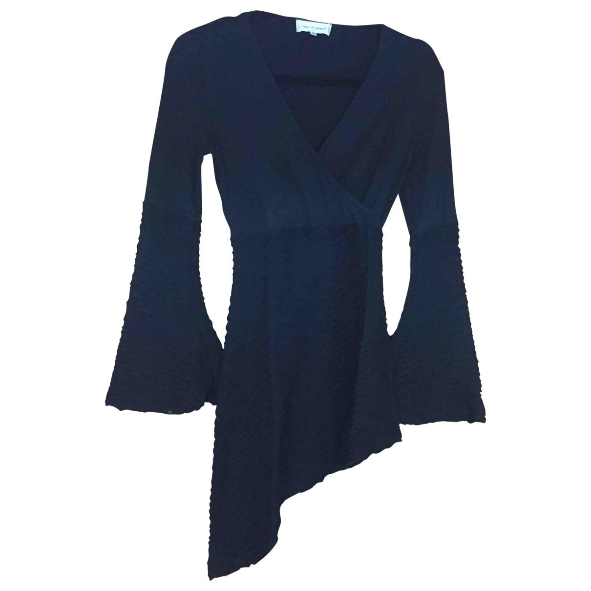 Anne Fontaine \N Kleid in  Schwarz Baumwolle