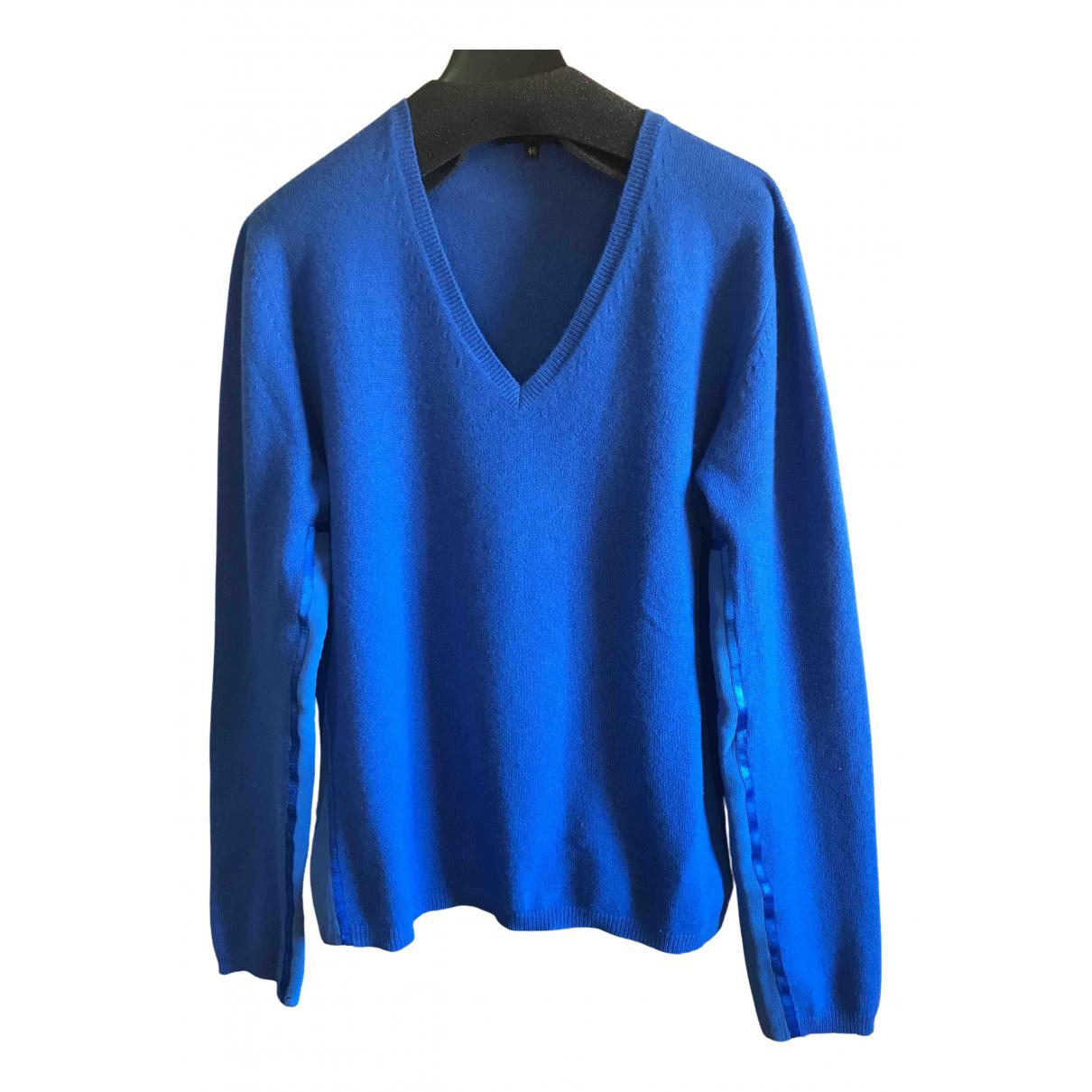 Etro N Blue Wool Knitwear for Women 46 IT