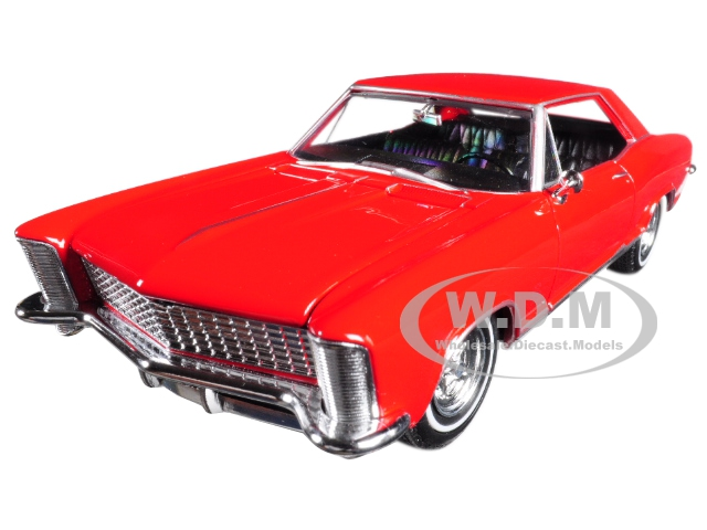 1965 Buick Riviera Gran Sport Red 1/24-1/27 Diecast Model Car by Welly