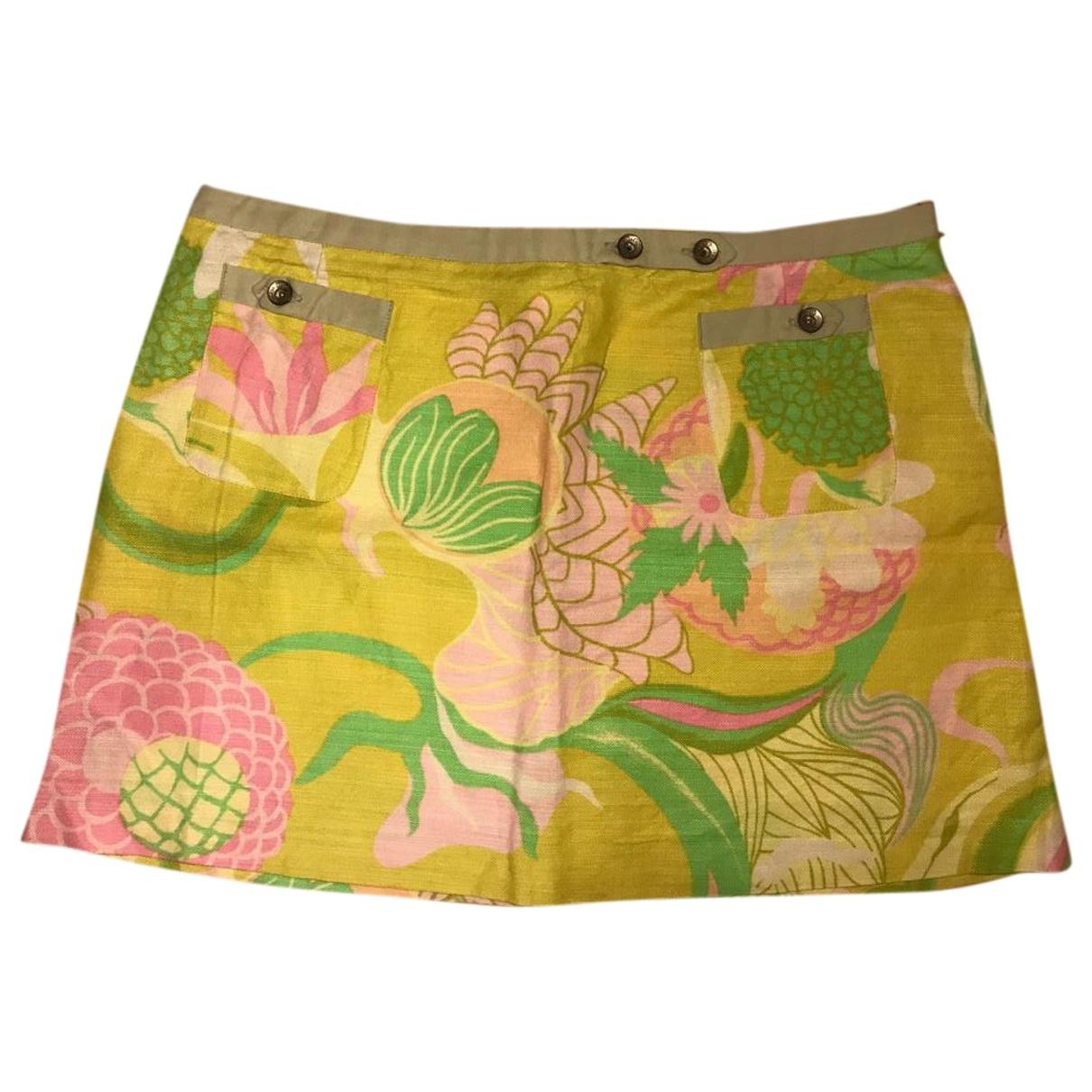 D&g - Jupe   pour femme en lin - multicolore