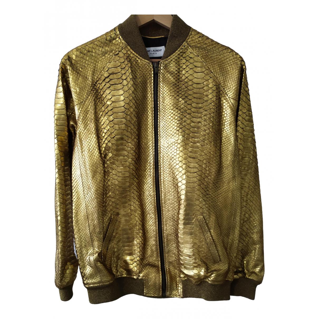 Saint Laurent N Gold Python jacket for Women 36 FR