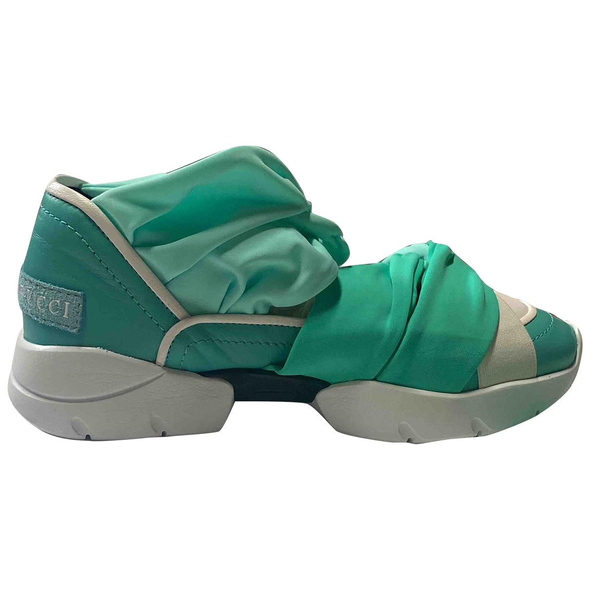 Emilio Pucci - Baskets   pour femme en cuir - vert