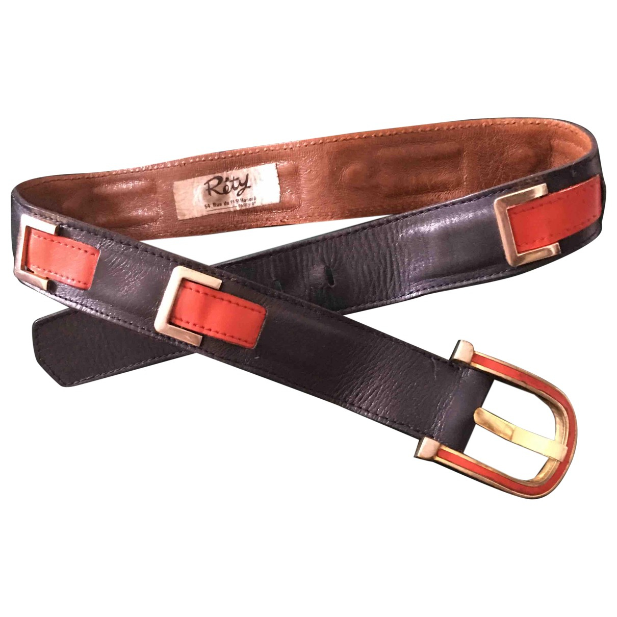 Non Signé / Unsigned \N Blue Leather belt for Women 75 cm