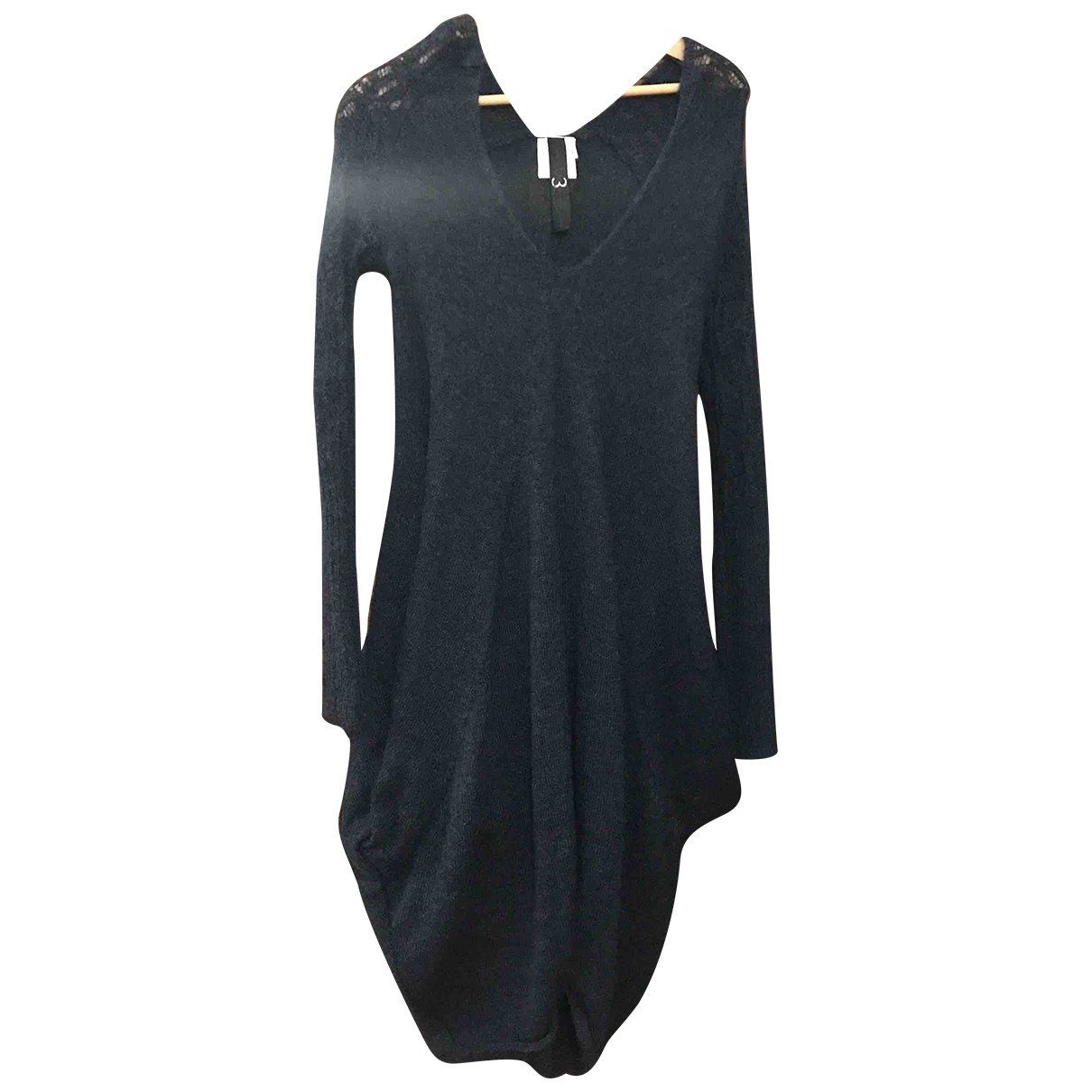 Non Signe / Unsigned Oversize Kleid in  Blau Wolle