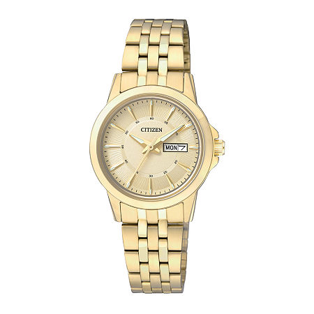 Citizen Everyday Womens Gold-Tone Stainless Steel Bracelet Watch EQ0603-59P, One Size , No Color Family