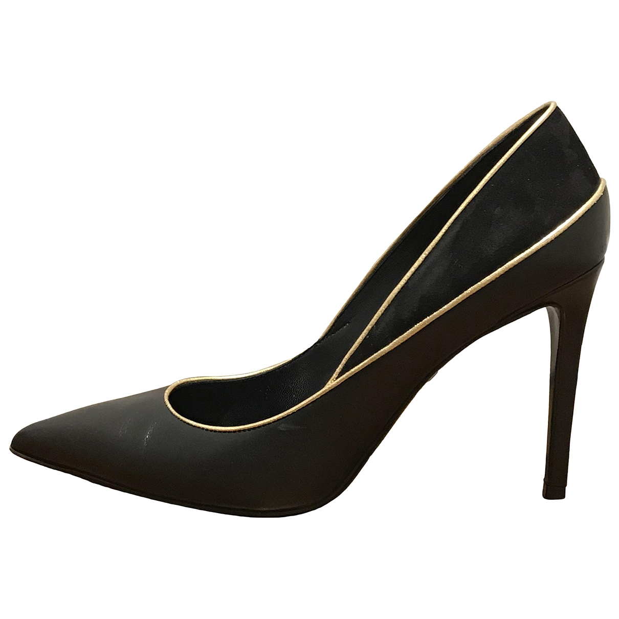 Balmain \N Black Leather Heels for Women 39 EU
