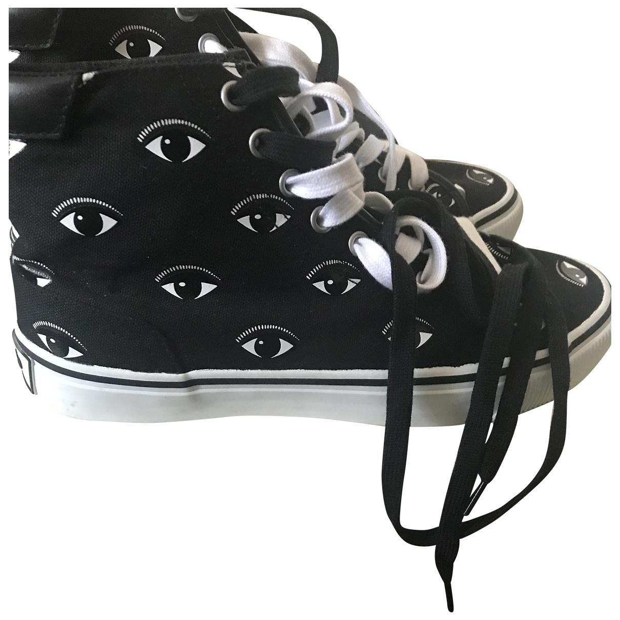 Kenzo - Baskets   pour femme en toile - noir