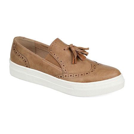 Journee Collection Womens Alisha Loafers, 6 1/2 Medium, Brown