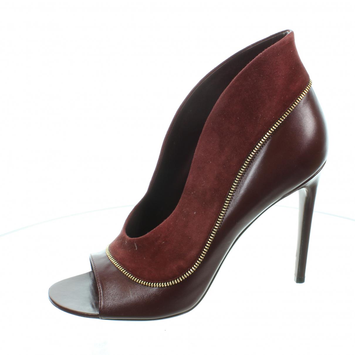 Louis Vuitton \N Burgundy Leather Heels for Women 40 EU