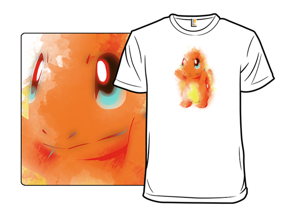 Fire Watercolor T Shirt