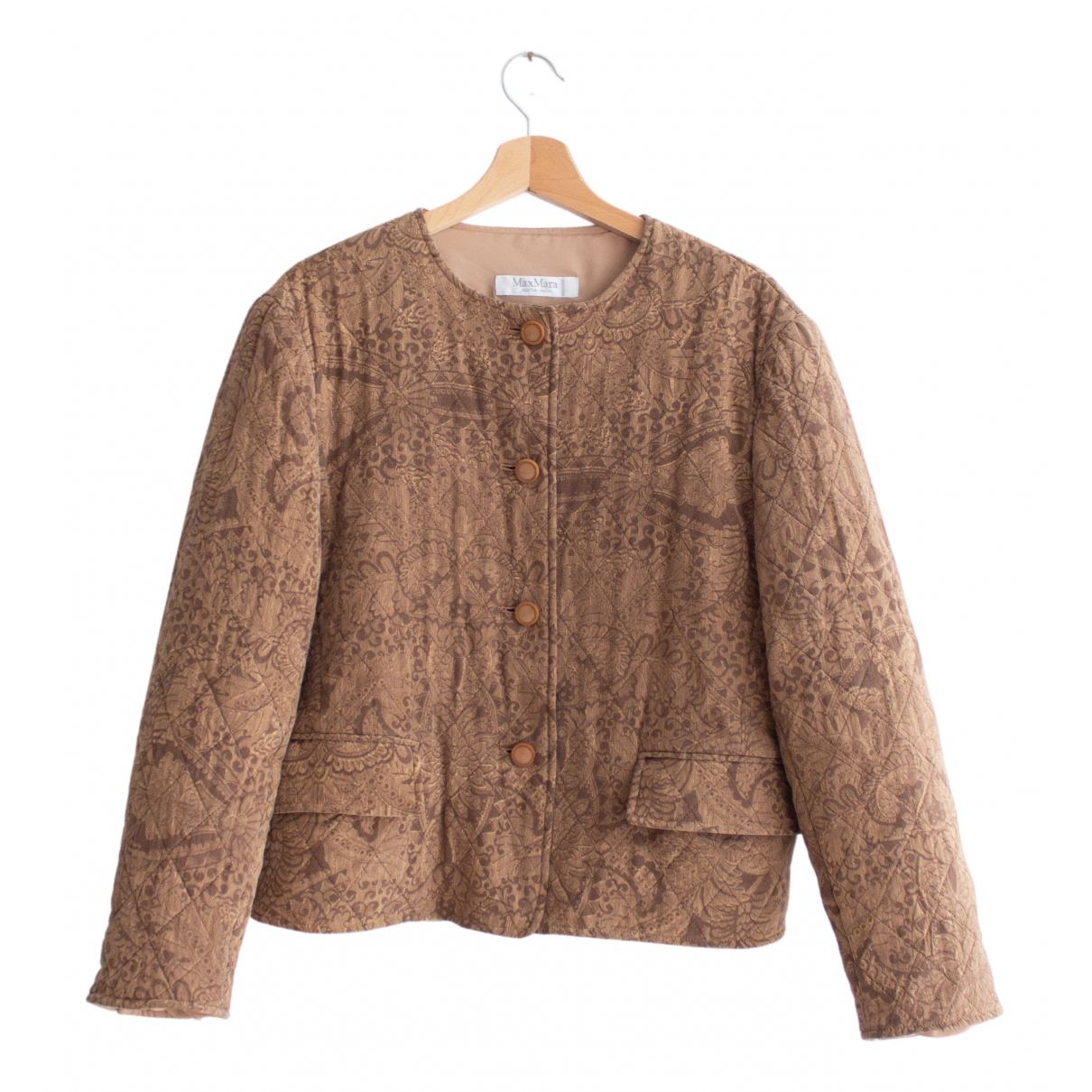Max Mara N Brown Silk jacket for Women 46 IT