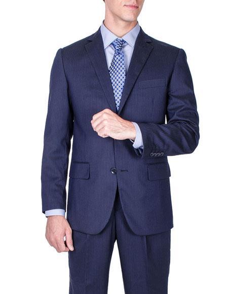 Men's Tonal Stripe Wool Single Breasted Giorgio Fiorelli Brand suits