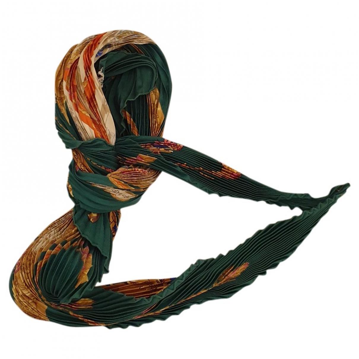 Hermes - Carre Plisse pour femme en soie - vert