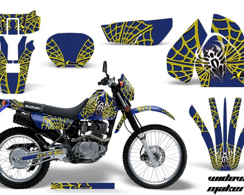 AMR Racing Dirt Bike Graphics Kit Decal Sticker Wrap For Suzuki DRZ200SE 1996-2009áWIDOW YELLOW BLUE