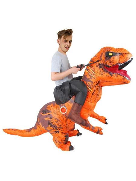Milanoo Inflatable Dinasor Riding Costume Halloween Funny Blow Up Costume Adult