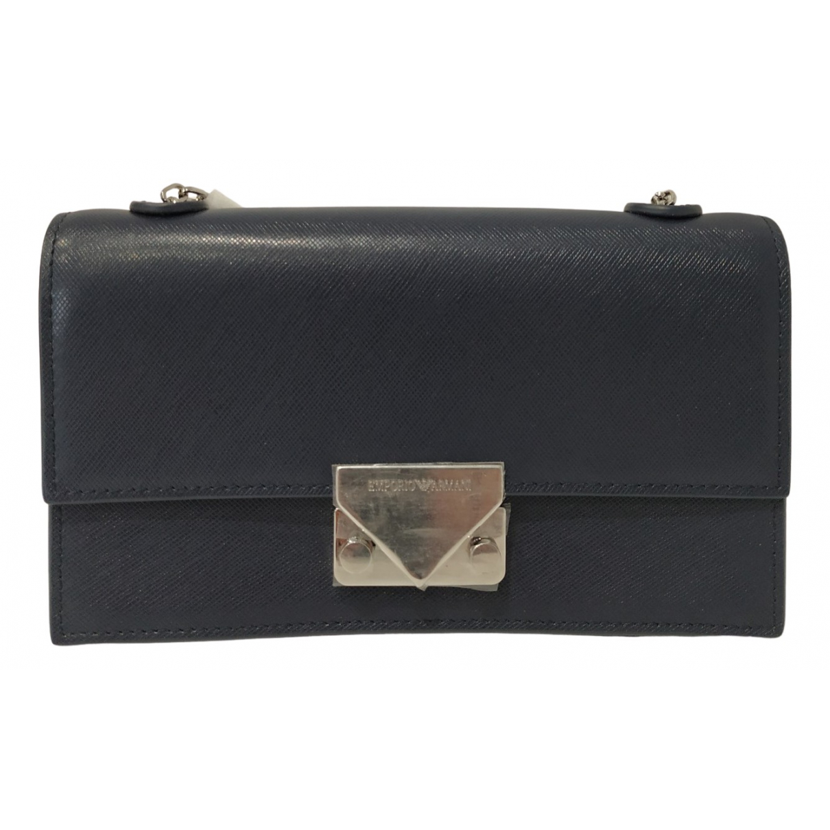 Emporio Armani \N Clutch in  Blau Fell