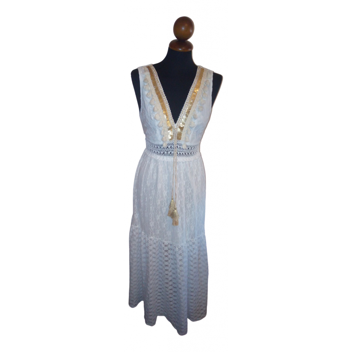 Non Signé / Unsigned \N White dress for Women 42 IT