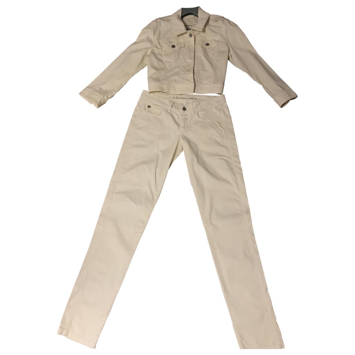 Twin Set \N Jumpsuit in  Gelb Baumwolle
