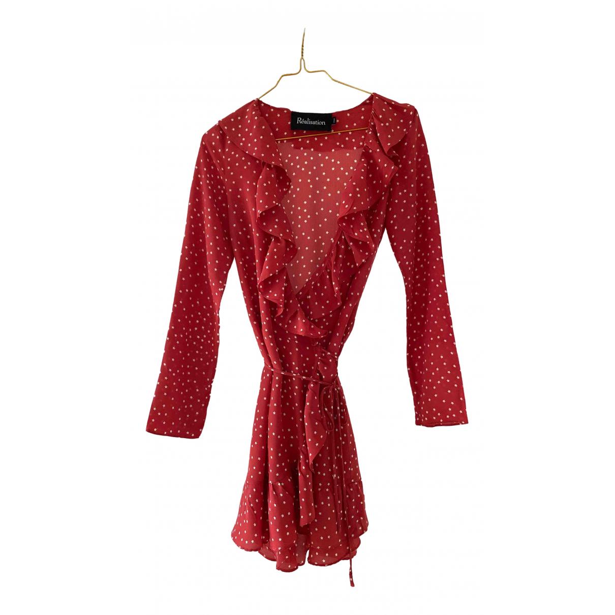 Réalisation Alexandra Red Silk dress for Women XXS International