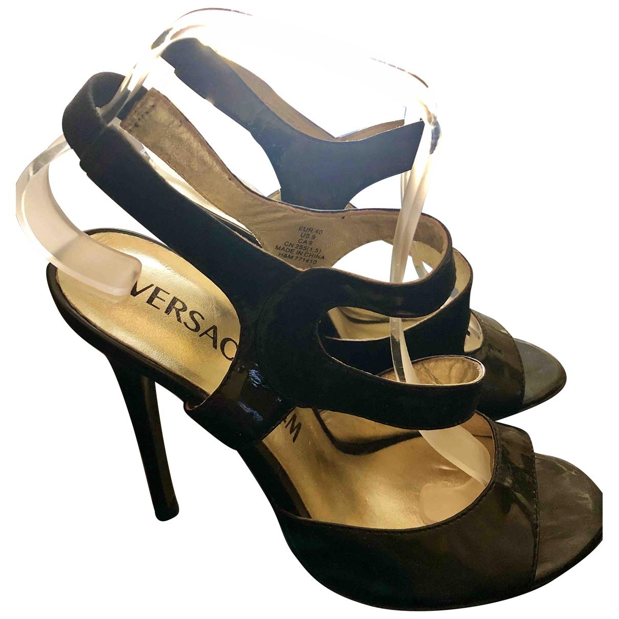 Versace X H&m \N Sandalen in  Schwarz Leder
