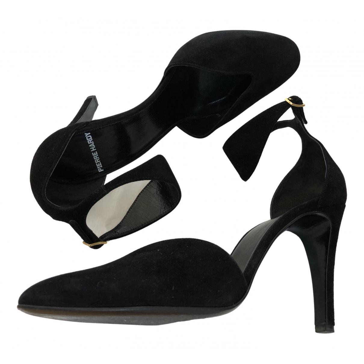 Pierre Hardy N Black Leather Heels for Women 37 EU