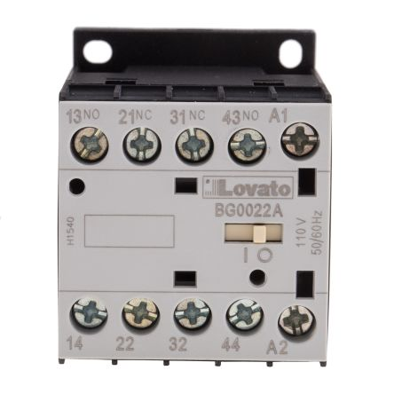 Lovato Contactor Relay - 2NO/2NC, 10 A Contact Rating