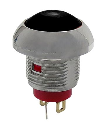RS PRO Single Pole Single Throw (SPST) Momentary Green LED Miniature Push Button Switch, IP67, 13.6 (Dia.)mm, Threaded,
