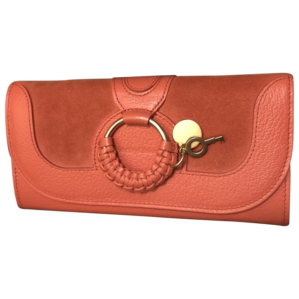 See By Chloe - Portefeuille   pour femme en cuir - orange